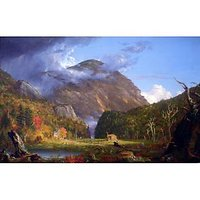 A View Of The Mountain Pass Called The Notch Of The White Mountans -Thomas_Cole - Canvas Art Print