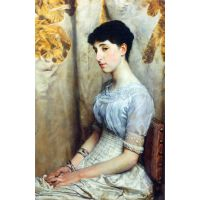 Portrait Of Alice Lewis By Alma-Tadema - Canvas Art Print