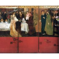 The Family Picture Of Epps, Panels 4-6 By Alma-Tadema - Fine Art Print