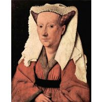 Portrait Of Margaretha Van Eyck By Jan Van Eyck - Canvas Art Print