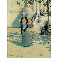 Characters In The Sunlight By Hassam - Fine Art Print