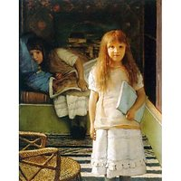 Portrait Of Laurense And Anna Alma-Tadema As A Child By Alma-Tadema - Canvas Art Print