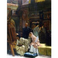 The Gallery By Alma-Tadema - Canvas Art Print