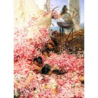 The Roses Of Heliogabalus Detail By Alma-Tadema - Canvas Art Print