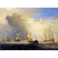 Rotterdam Ferry Boats By Joseph Mallord Turner - Museum Canvas Print