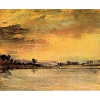 Sunrise On The River By Joseph Mallord Turner - Canvas Art Print