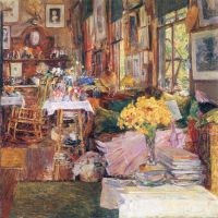 The Room Of Flowers By Hassam - Fine Art Print