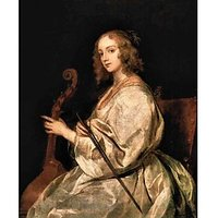 Portrait Of Mary Ruthven, Wife Of The Artist By Van Dyck - Fine Art Print
