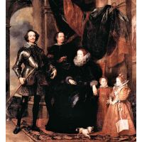 Portrait Of The Lomellini Family By Van Dyck - Canvas Art Print