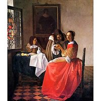 Girl With A Wine Glass By Vermeer - Fine Art Print