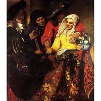 The Procuress By Vermeer - Museum Canvas Print