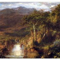 Heart Of The Andes Detail By Frederick Edwin Church - Fine Art Print