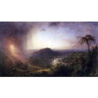 The Valley Of St. Thomas, Jamaica By Frederick Edwin Church - Canvas Art Print