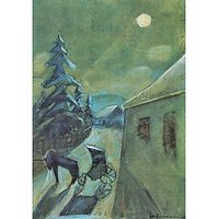 Moonscape With Horse By Walter Gramatte - Fine Art Print