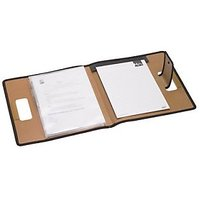 Trio C700 Conference Carry File With Pad A4 (Set Of 2, Khaki)