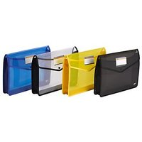 Trio FB100 File Bag Snap Button FC (Set Of 2, Yellow)