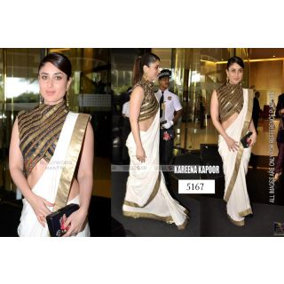 New Party Wear Indian Designer Bollywood Replica Chiffon Sarees