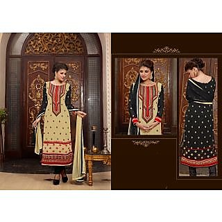ASHOKA GOLDEN AND BLACK WITH EVERGREEN LOOK (RU-4007)