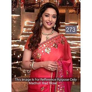 Indian Designer Replika Bollywood Actress Madhuri Red Saree