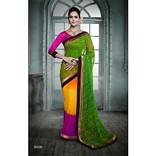 Magnum Opus Store Multi Color Georgette Saree.