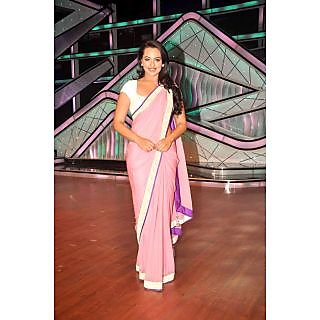 Bollywood Replica Sonakshi Sinha Pink Designer Saree At DID DNO40