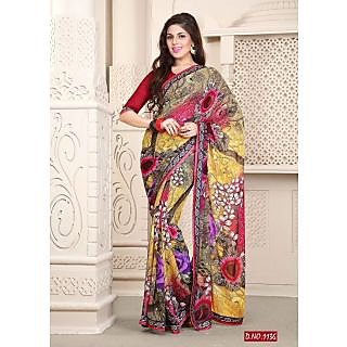 Kiteshop Multi Weightless Printed Designer Saree