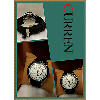 CURREN MENS WATCH WITH BLACK DIAL Black STRAP