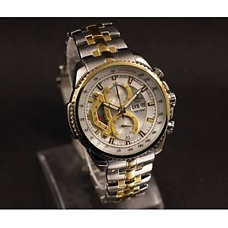 Casio Edifice Tachymeter Chronograph White Dial Men's Watch - EF-  558 SG-7A
