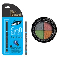 Blue Heaven Eye Magic Eye Shadow 601 & Bh Kajal Liner Combo
