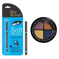 Blue Heaven Eye Magic Eye Shadow 602 & Bh Kajal Liner Combo