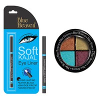 Blue Heaven Eye Magic Eye Shadow 603 & Bh Kajal Liner Combo