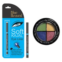 Blue Heaven Eye Magic Eye Shadow 604 & Bh Kajal Liner Combo