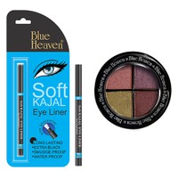 Blue Heaven Eye Magic Eye Shadow 605 & Bh Kajal Liner Combo