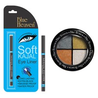 Blue Heaven Eye Magic Eye Shadow 606 & Bh Kajal Liner Combo