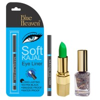 Blue Heaven Xpression Lipstick Gn 101, Xpression Nail Paint 998 & Bh Kajal Liner Combo