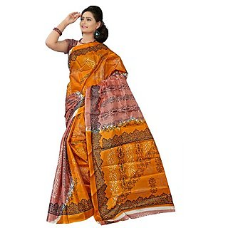 Shrungar Designer Art Silk Printed  Saree (Without Blouse) TFT0020