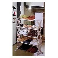 Portable Folding 5 Tier Shoe Rack- Foldable Shoe Rack - 74884404