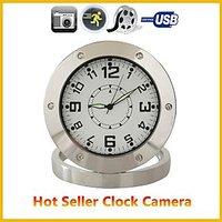 Motion Activated Clock Video Camera Security Cam SPY NANNY Camera Alarm CLOCK - 74884500
