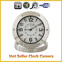 Motion Activated Clock Video Camera Security Cam SPY NANNY Camera Alarm CLOCK - 74884700