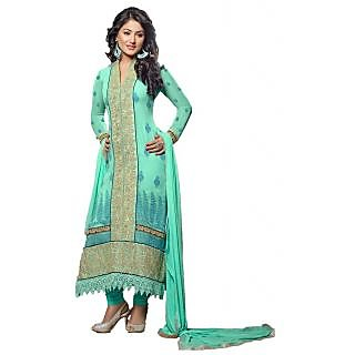 Multi Color Faux Georgette Embroidered Regular Dress Materials