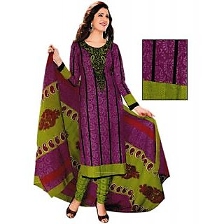 Bansal Collection Cotton Printed Suit With Chiffon Dupatta And Printed Salwar