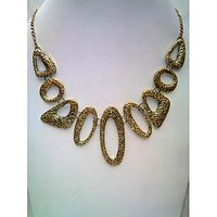 Golden Style Statement Necklace