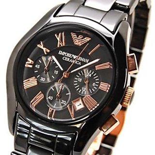 Emporio AR1410 Ceramica Chronograph Quartz Mens Watch