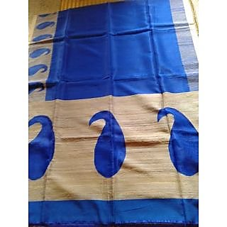 Blue Resham Saree