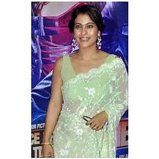 Richlady Fashion Kajol Net Machine Work Green Saree