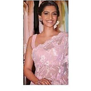 Richlady Fashion Sonam Kapoor Thread Work Pink Saree