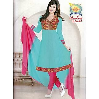 Pankudi Cotton Anarkali Unstitched Suit With Dupatta (D.N.07)