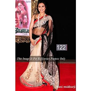 FabPandora Designer Bollywood Collection Net Saree With Blouse Piece & Inner