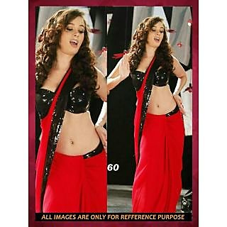 Bollywood Saree BOLLYWOOD REPLICA RED EVELYN SHARMA HOT SAREE