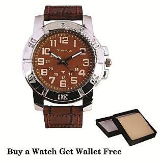 Tanz Combo Offer Buy Watch Tw012 & Get Beige Wallet Free